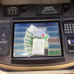 金浦空港友利銀行ATMでセディナカード韓国ウォンキャッシング