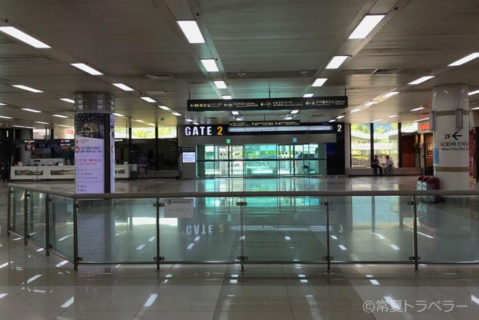 金浦空港国際線到着ロビー