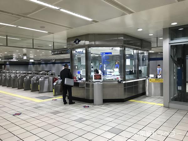 松山空港駅構内インフォメーション