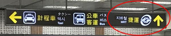 捷運という文字が書いてある