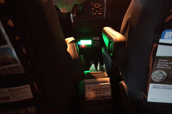 台湾タクシーメーター下